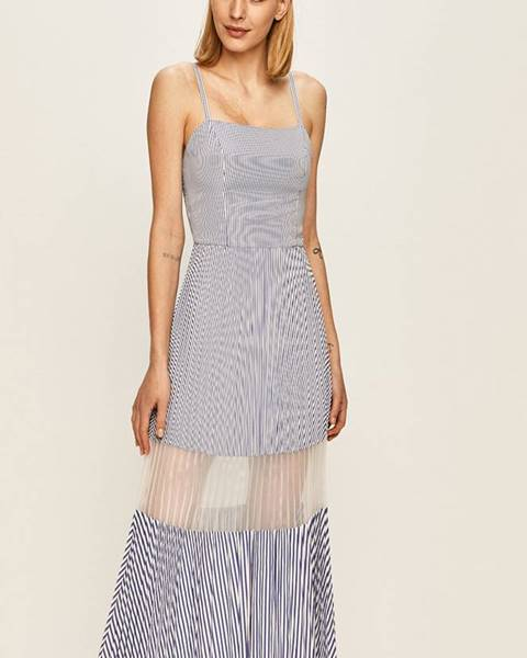 Modré šaty Armani Exchange