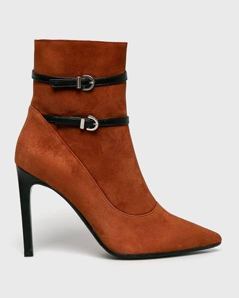 Oranžové boty Baldowski