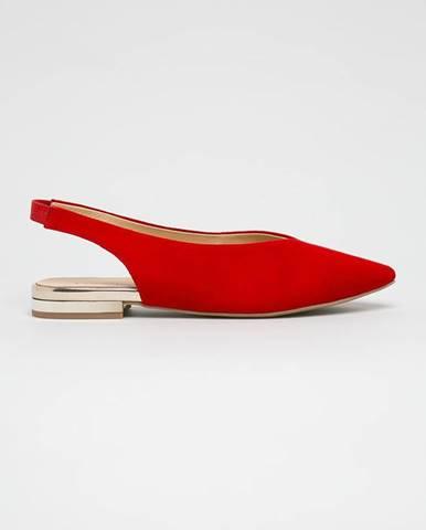 Červené baleríny Caprice