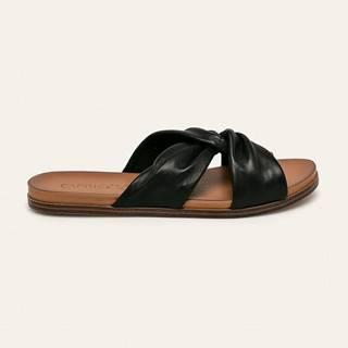 Caprice - Kožené pantofle