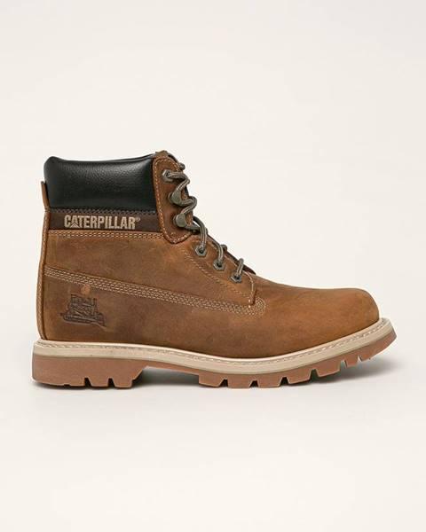 Hnědé boty Caterpillar