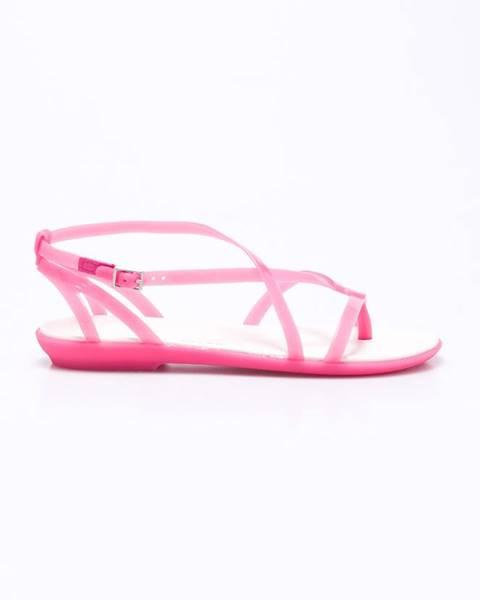Růžové boty crocs