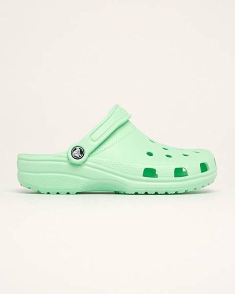 Zelené boty crocs