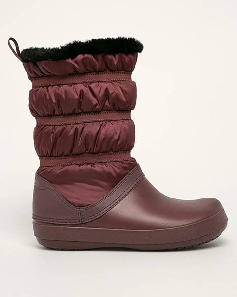 Burgundské boty crocs