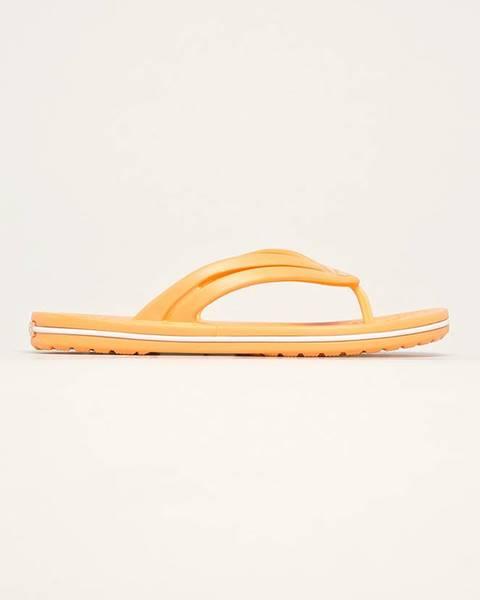Oranžové boty crocs