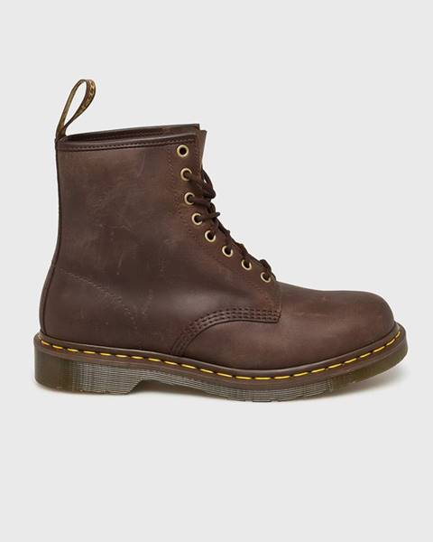 Hnědé boty dr. martens