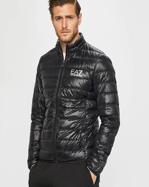 Černá bunda EA7 Emporio Armani