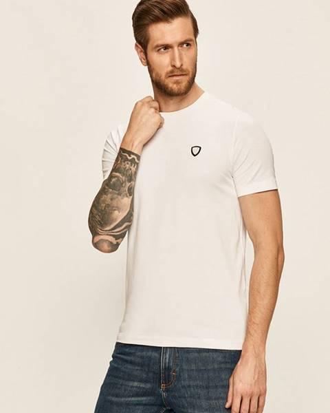 Bílé tričko EA7 Emporio Armani