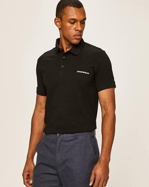 Černé tričko Emporio Armani