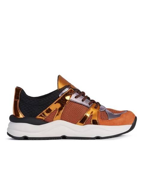 Oranžové boty geox