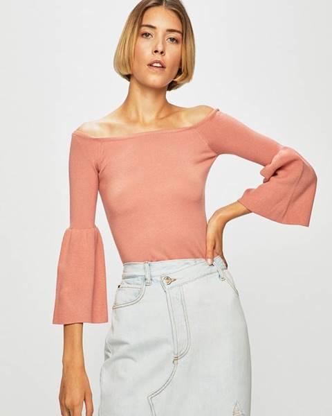 Růžový svetr Guess Jeans