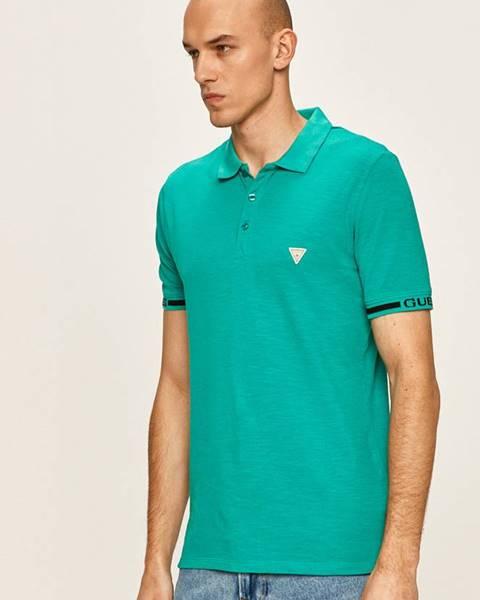 Zelené tričko Guess Jeans