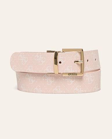 Růžový pásek Guess Jeans