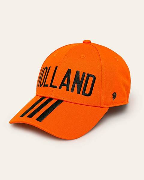 Oranžová čepice adidas performance