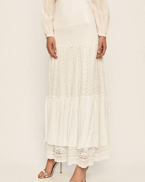 Bílá sukně Guess Jeans