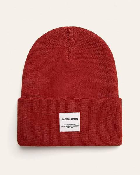 Červená čepice jack & jones