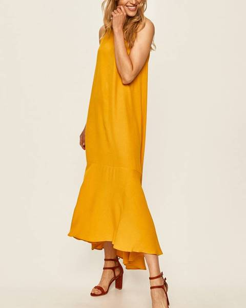 Žluté šaty ANSWEAR