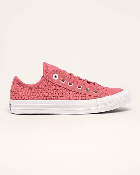 Růžové boty converse