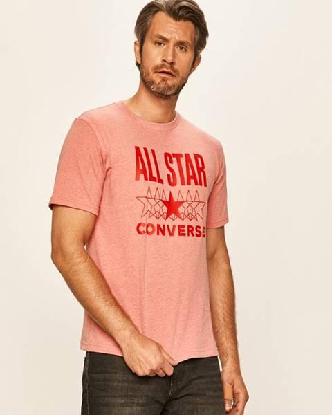 Růžové tričko converse