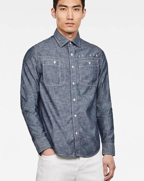 Modrá košile G-Star RAW