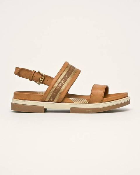 Hnědé boty wrangler