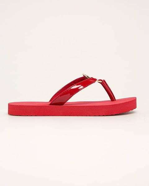 Červené boty tommy hilfiger