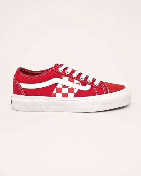 Červené boty vans