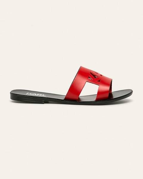 Červené boty karl lagerfeld