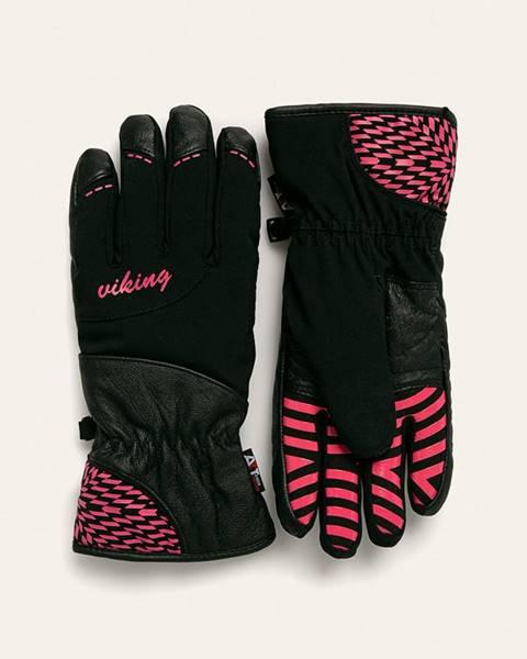 Černé rukavice Viking