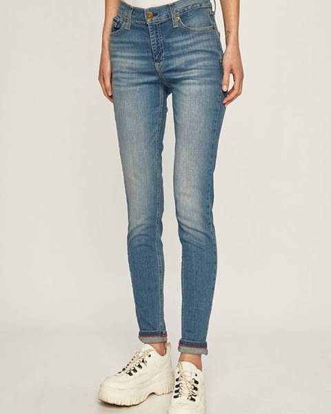 Modré kalhoty Tommy Jeans