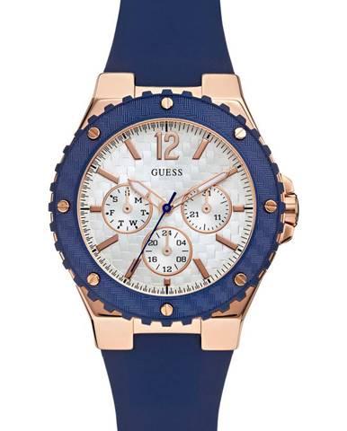 Modré hodinky Guess Jeans
