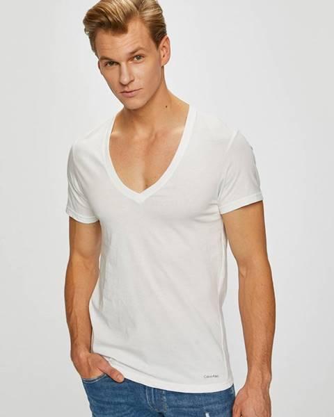 Bílé tričko calvin klein underwear