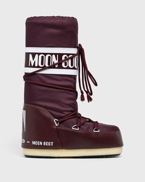 Fialové boty Moon Boot