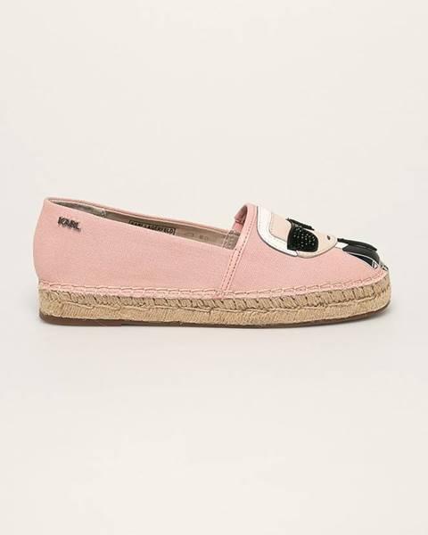 Růžové boty karl lagerfeld