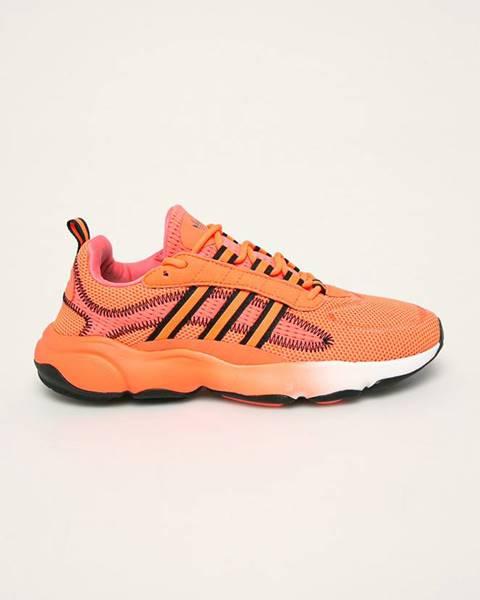 Oranžové boty adidas originals