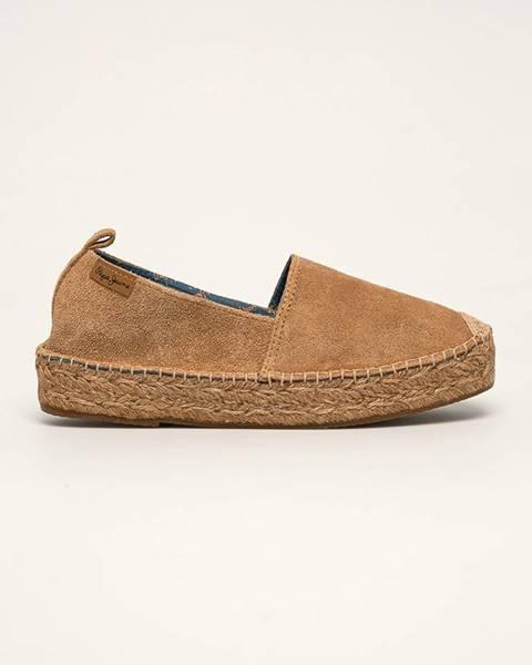 Hnědé boty pepe jeans