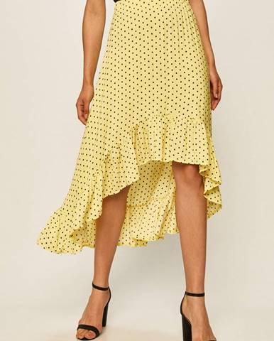 Žlutá sukně ANSWEAR