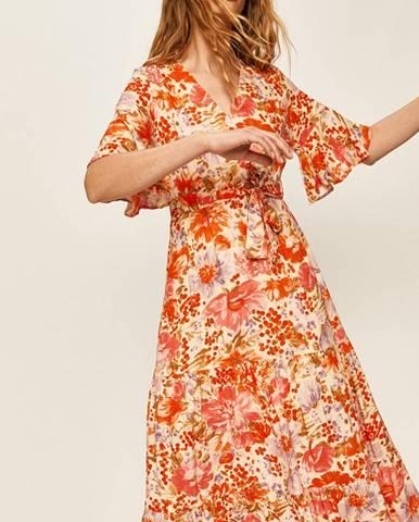 Oranžové šaty ANSWEAR