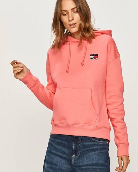 Růžová mikina Tommy Jeans