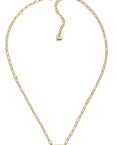 Zlatý náhrdelník dkny