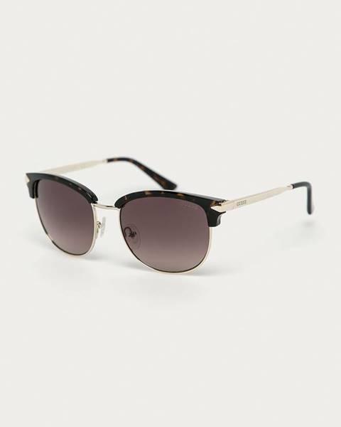 Hnědé brýle Guess Jeans