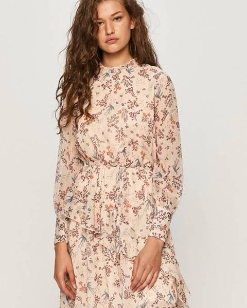 Růžové šaty jacqueline de yong