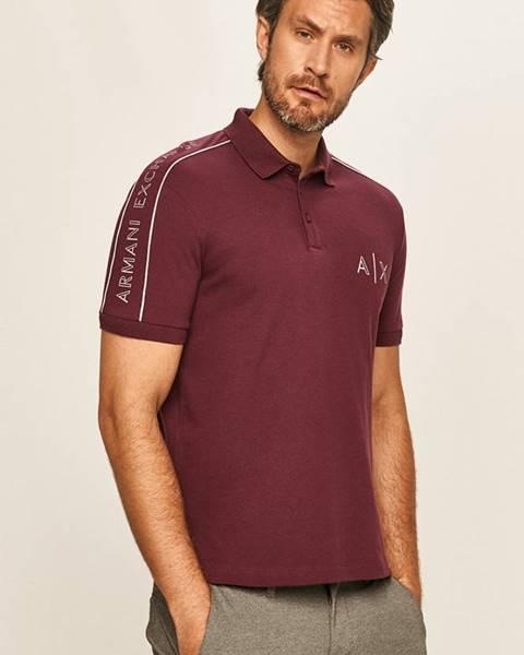 Fialové tričko Armani Exchange