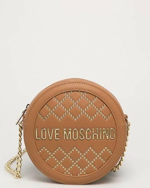Hnědá kabelka Love Moschino