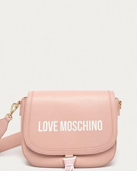 Růžová kabelka Love Moschino