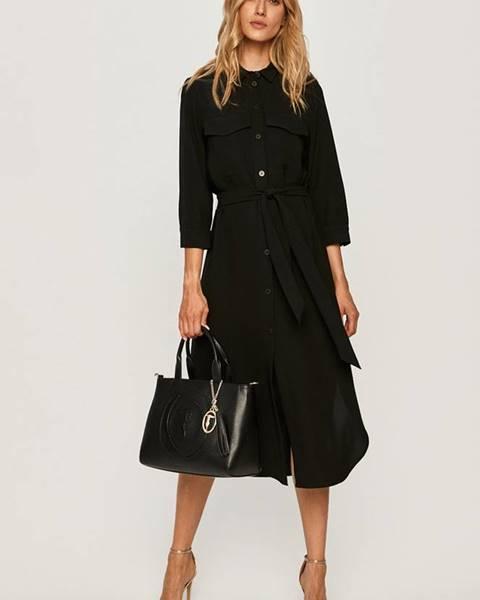 Černé šaty Armani Exchange