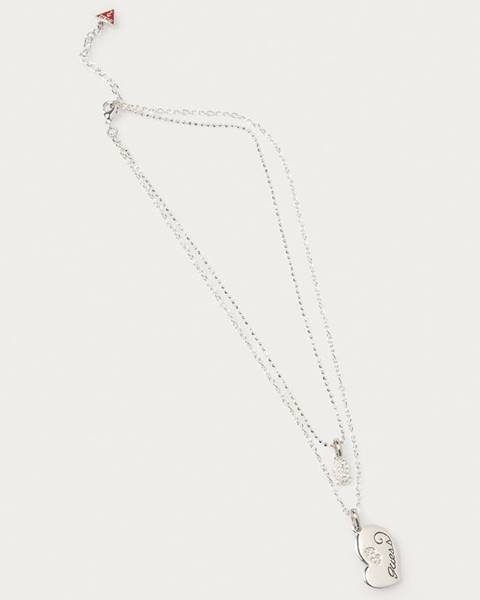 Stříbrný náhrdelník Guess Jeans