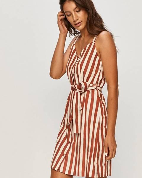 Burgundské šaty vero moda