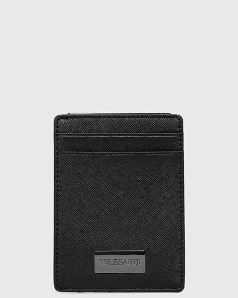 Černá peněženka Trussardi Jeans