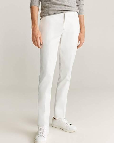 Bílé kalhoty Mango Man